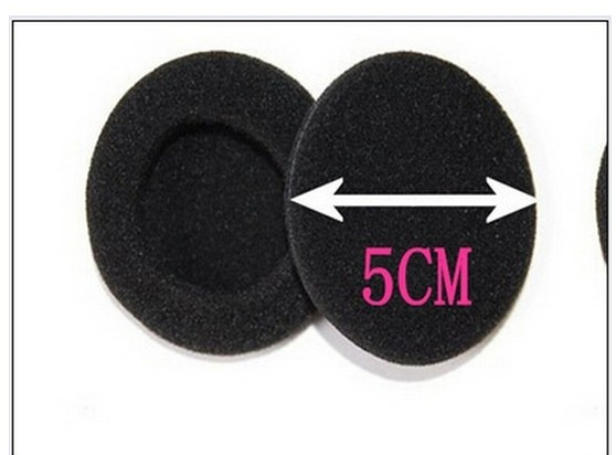"""4 pairs 8Pcs 2"""" 50mm Soft Foam Earbud Headphone Ear pads Replacement Sponge Covers for Earphone MP3 MP4 AE01379(China (Mainland))"""