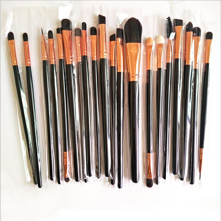 Makeup Brush 20 Pcs Eye Brush 3 Color Optional Professional Makeup Girl Suits Selling Products for Free Shipping BT008(China (Mainland))