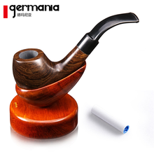Hot selling Real wood pipe The tobacco pipe Ebony Vintage bent smoking pipe incidental Yanju accessories Free shipping