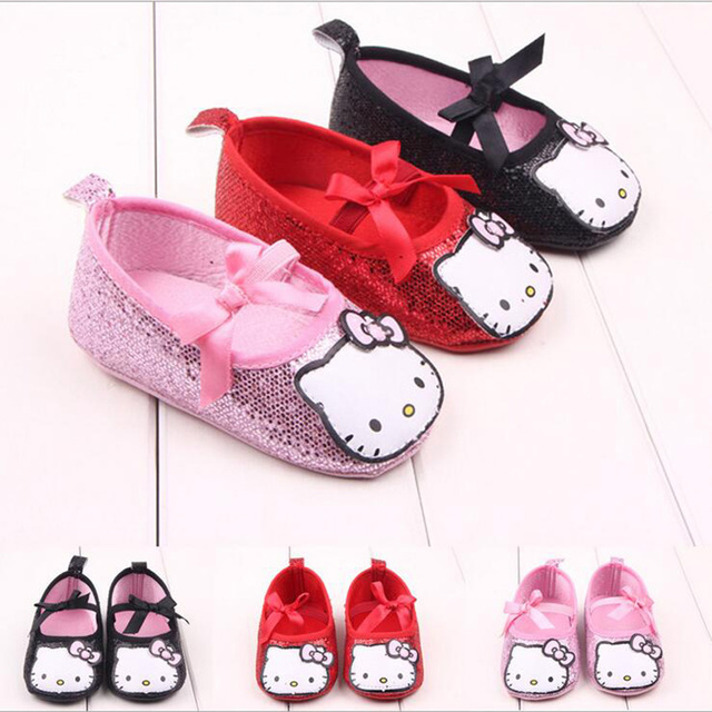 Впервые ходунки новые сладкая очень легкий новорожденный младенец обувь малыша принцесса ...