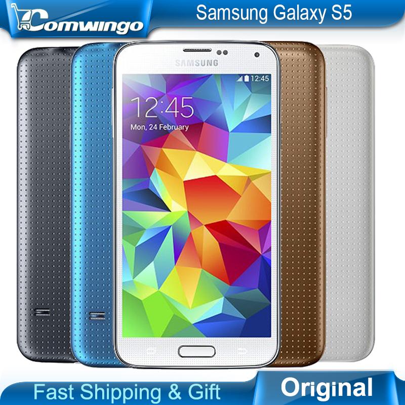 "Original Unlocked Samsung Galaxy S5 i9600 LTE WCDMA 2GB RAM 16GB ROM G900F 16MP Camera Quad Core 5.1"" Inch Cell Phone in stock(China (Mainland))"