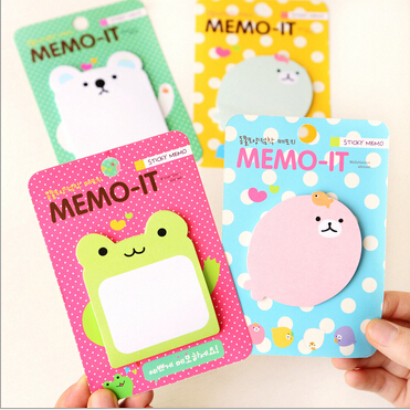 New Funny Cute Cartoon Animal design Notepad/sticky/emo pad/Paper sticky note/sticker message post/Wholesale No.0019(China (Mainland))