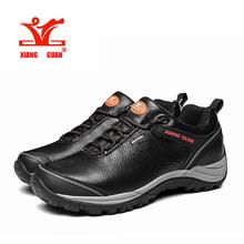 XIANGGUAN Brand wholesale Men Genuine leather Hiking shoes, men's Outdoor hiking shoes, Waterproof shoes sport shoes Cheap Sale(China (Mainland))