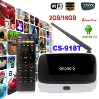 WiFi TV Set Top Box XBMC DLNA OTG 1080P Bluetooth 4.0 Quad Core ARM Cortex A7 Rockchip RK3128t CS-918T 2G/16G Android 4.4 TV Box
