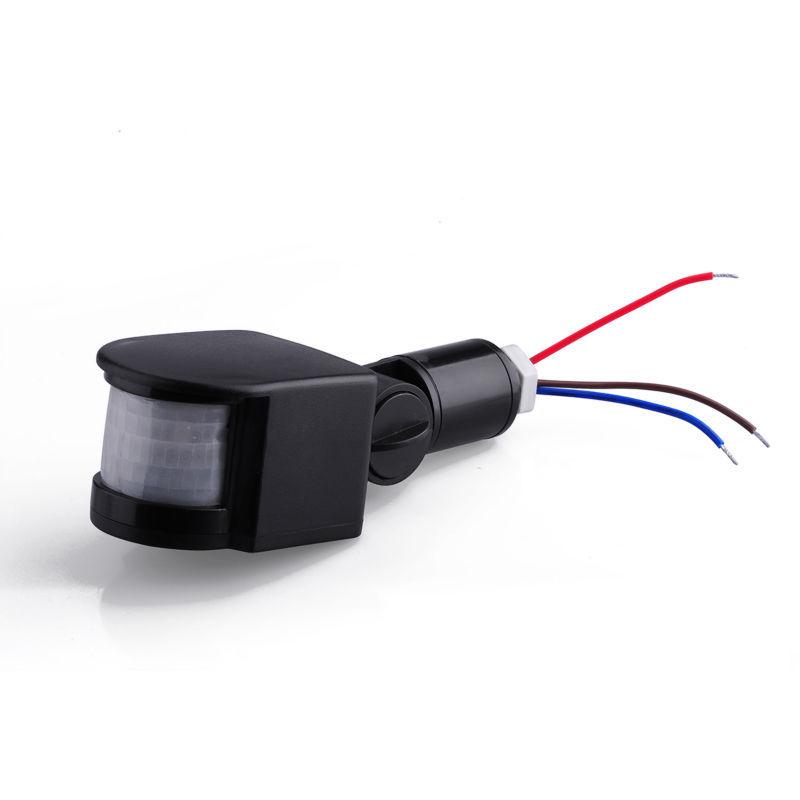 12 м из светодиодов инфракрасный датчик движения PIR детектор AC90V ~ 240 В 180 град. регулируется движение автоматическая безопасности IP44 для из светодиодов огни