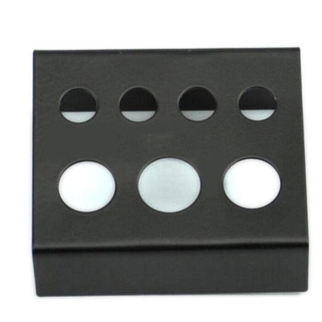 2016 новый черный нержавеющей стали кубок чернила кап держатель стенд 7 отверстий ...