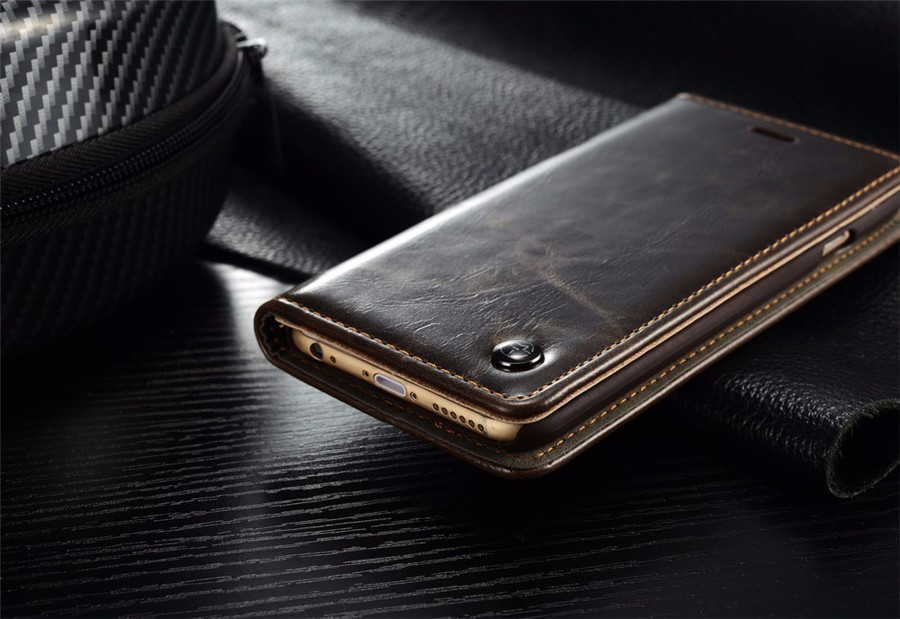 Original CaseMe Brand Leather Wallet Cover for iPhone 6 6s With Card Holder Magnetic Auto Flip Case for iPhone 6 6s