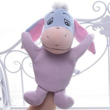 Lovely Blue Donkey Hand Puppet Plush Cartoon Figure Kids Girls Baby Developmental Hand Puppet 10'' Brand New(China (Mainland))