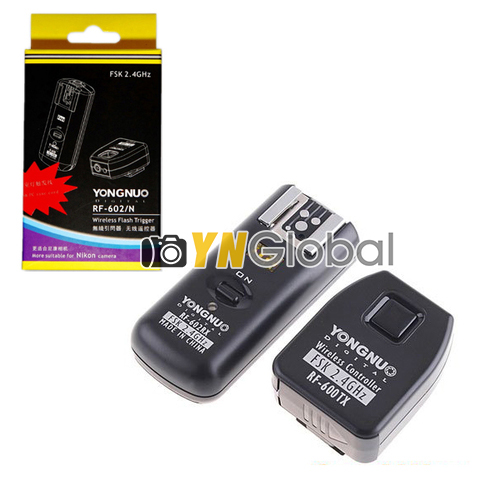 Yongnuo RF-602 2.4GHz Wireless Remote Flash Trigger + 1pc RF602 RX Receivers For Nikon D3 D200 D5100 D5300 D90 D80 D70(China (Mainland))