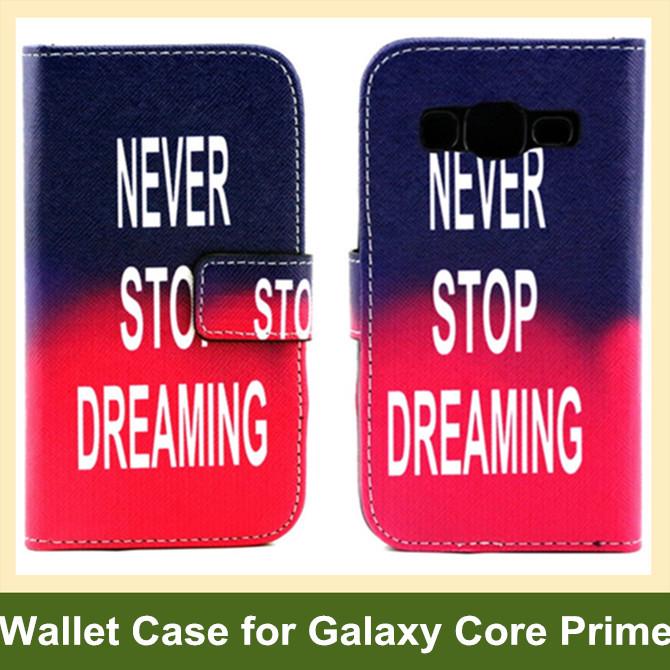 Camera Radio Animal Dog Bear Elephant Owl Flower Wave PU Leather Wallet Flip Case for Samsung Galaxy Core Prime G360 10pcs/lot