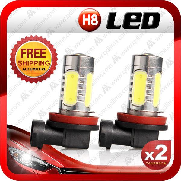 2x HID White H8 High Power COB LED Daytime Running+FREE SHIPPING(China (Mainland))