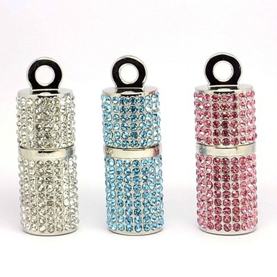 100% Full Capacity Bling Diamond Cylindrical Metal Chrome USB Flash Drive Pen Drive 32GB 16GB 8GB 4GB 2GB 128MB Memory Stick(China (Mainland))