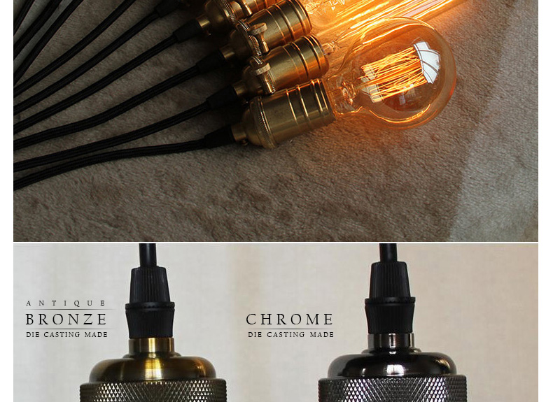 Aluminum Pendant Light E27 Lamp holder for 110V 220V led/Incandescent Edison bulb Vintage Retro decor hanging Lamp for home/room