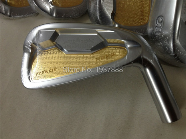 Gold Kawachi Premiere R2 Irons Authentic Golf Clubs Right Hand Golf Forged Irons 4-9Pw R/S-Flex Steel Shaft With Head Cover(China (Mainland))