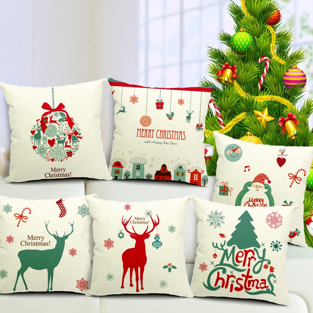 2015 Chair Pillow Case sofa Car beauty bloster merry christmas gift Cushion Cover Creative pillow Cute seat cushion(China (Mainland))