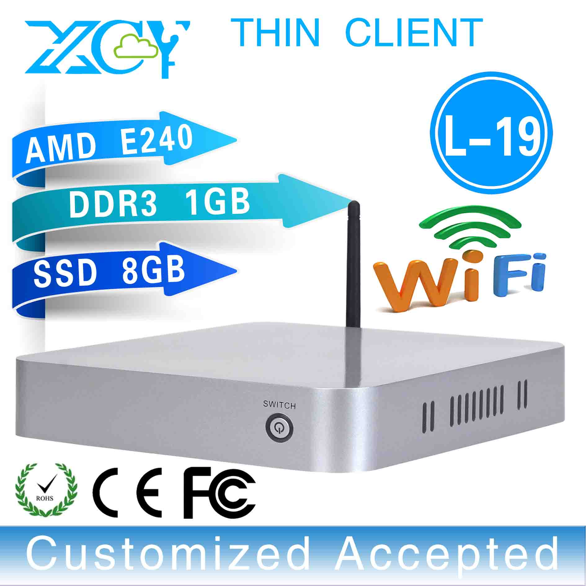 thin pc wireless thin client Linux thin client L-19,support outdoor printer,projector 1g ram 8g ssd(China (Mainland))