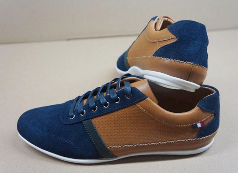 Wholesale Zapatos para Hombre men blue man shoes brand casual zapatillas deportivas mujer 2015 Ox fur & Genuine Leather Buckle(China (Mainland))