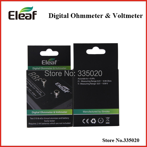 Original Eleaf Digital OhmMeter VoltMeter ohm Reader Atomizer Resistance Tester Ohmmeter Voltmeter Meter Device