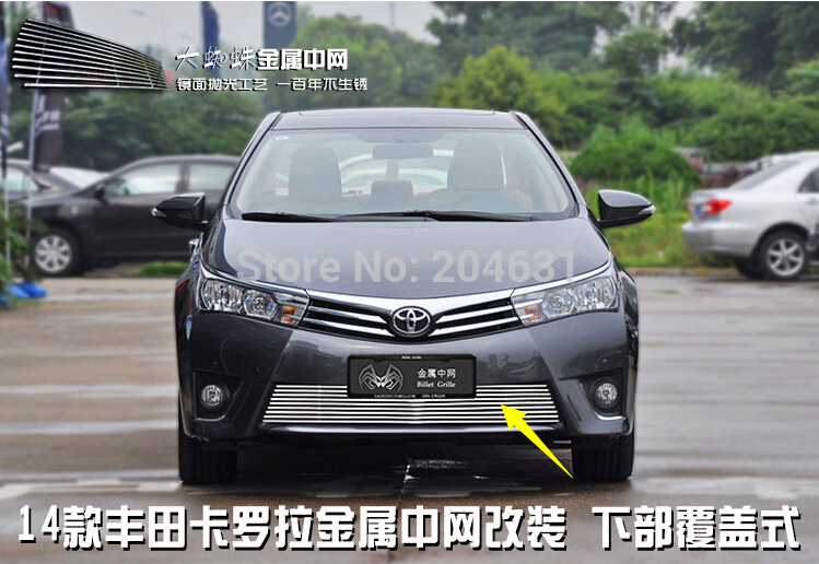 Stainless steel outlet before the middle grid electroplating car styling racing grill trim for 2014 Corolla Fast air free shippi