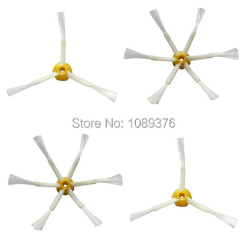 Free Post New 2 x Side Brush 3/ 6armed for iRobot Roomba 500 600 700 Series 550 560 630 650 780(China (Mainland))