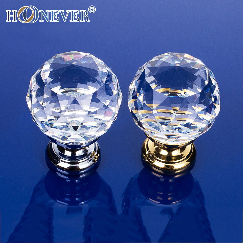 5pcs Diamond Crystal Knob Transparent Drawer Knob Modern Drawer Pull Kitchen Cabinet Wardrobe Handle<br><br>Aliexpress