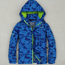 Children Outerwear Coat Sporty Kids Clothes Double-deck Waterproof Windproof Boys Jackets For 5-15Y 2 Colors Spring and Autumn(China (Mainland))