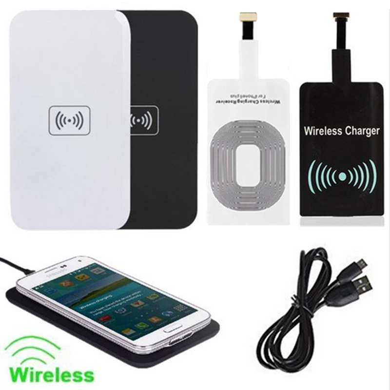 2016 Qi Wireless Charger Charging Pad + Receiver for Samsung Galaxy S5 S6 S7 Note 5 Edge For iPhone Google Nexus Lumia LG Nokia(China (Mainland))