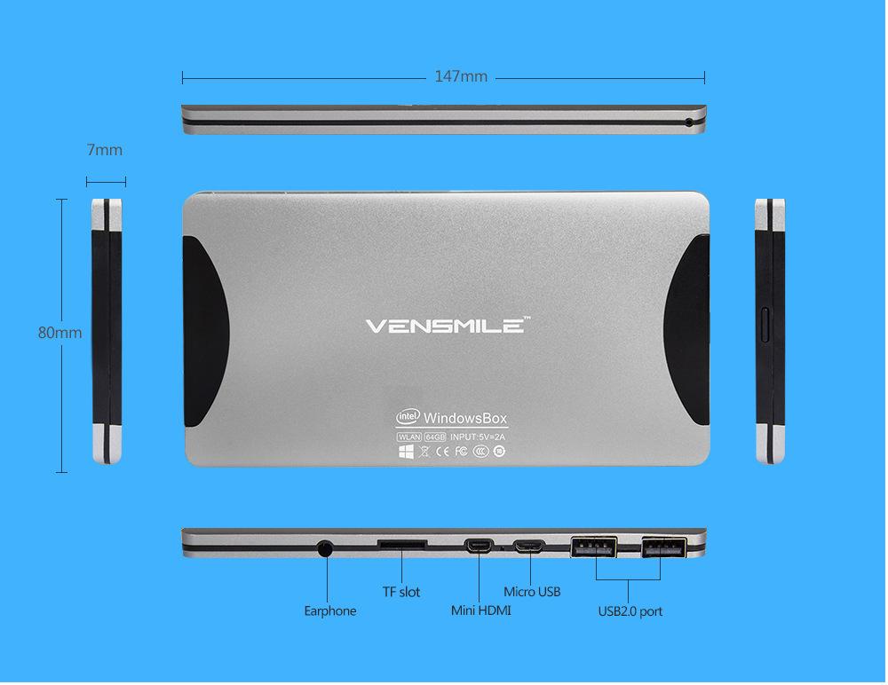 Vensmile mini pc windows 8.1 32GB 2G RAM microfone intel core i5 thin client ubuntu nuc mini pc j22 mini pc i5 tv box bluetooth(China (Mainland))