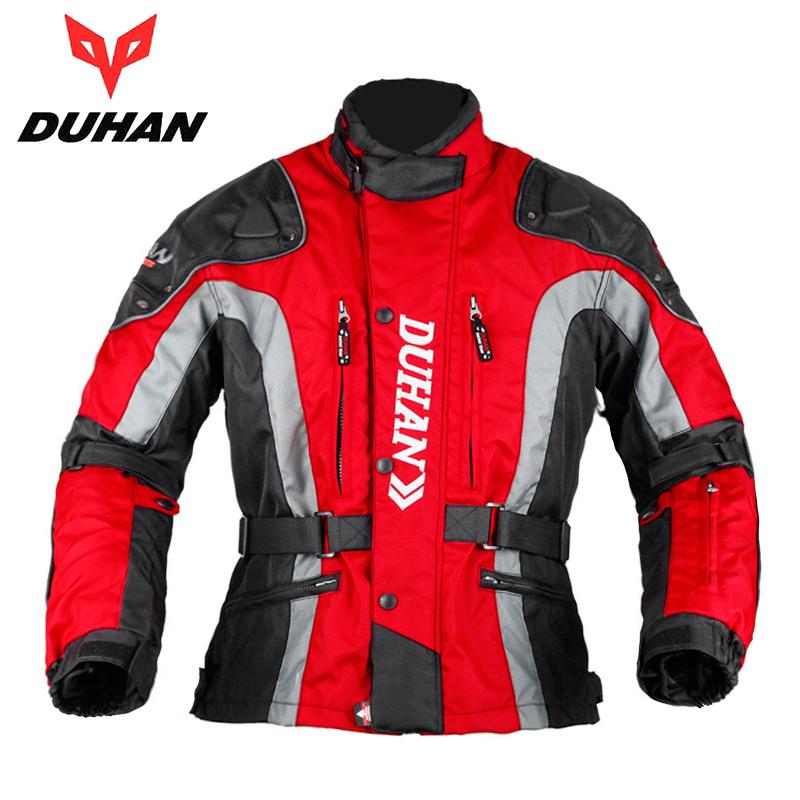 DUHAN Motocross Riding Equipment Gear Cold-proof Moto Jacket Clothing Men's Oxford Cloth Street Bike Racing Motorcycle Jacket(China (Mainland))