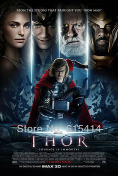 "22 Thor 2 The Dark World 2013 movie 24""x36"" inch wall Poster with Tracking Number"