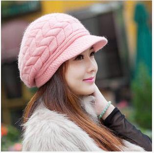 2016 women skullies & beanies winter hat female knitted patterns cap femme chapeau ladies wool warm beret wholesale(China (Mainland))