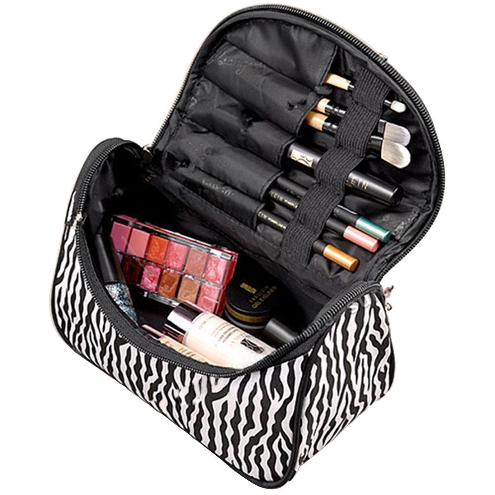 New Fashion Portable Waterproof Women Makeup Bag Make Up Storage Organizer Box Beauty Case Travel Pouch Zebra(China (Mainland))