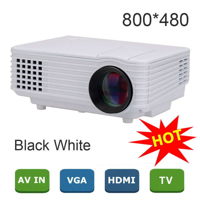 2015 New EC77 1800 lumens Pico Mini LED Projector digital Full HD 1080P Portable LCD video proyector VGA HDMI TV Home Theater