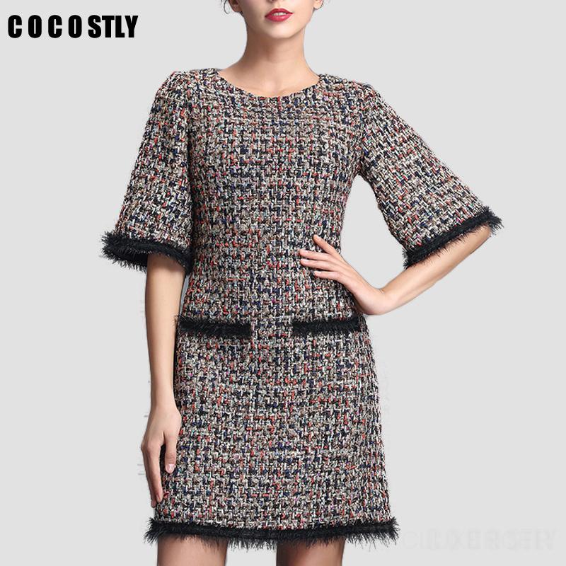 Купить Платье Из Твида