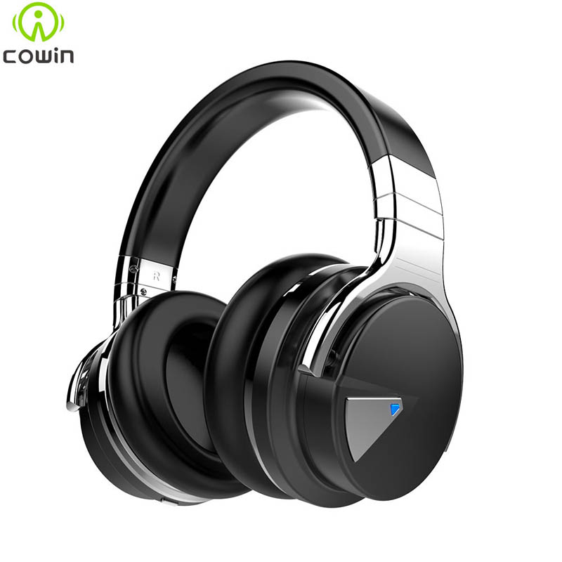 Cowin E-7 Active Noise Cancelling Bluetooth Headphones with Mic Wireless Headset Earphone for Phone PC Computer MP3 36 Hours(China (Mainland))