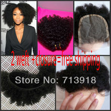 On Sale 5A Eurasian Virgin Remy Hair 100% Virgin curly Hair 3PCS=2weft +1closure Free Shipping Color