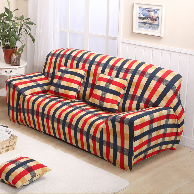 plaid sofa cover leather sofa slipcover protective case. Black Bedroom Furniture Sets. Home Design Ideas