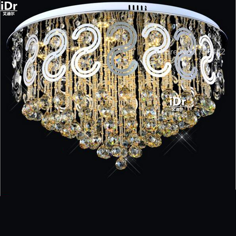 Chinese Style LED low-pressure crystal lamp circular living room bedroom lamp restaurant lights luxury status Ceiling Lights(China (Mainland))