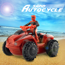 New coming Amphibious remote control boat  mini remote control motorcycle sand autocycle Remote amphibious vehicle free shipping(China (Mainland))