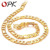 OPK Jewelry 18K Gold Plated Men's Necklace Classic Figaro Chain GOLD Europe/ African Necklaces, factory price 437
