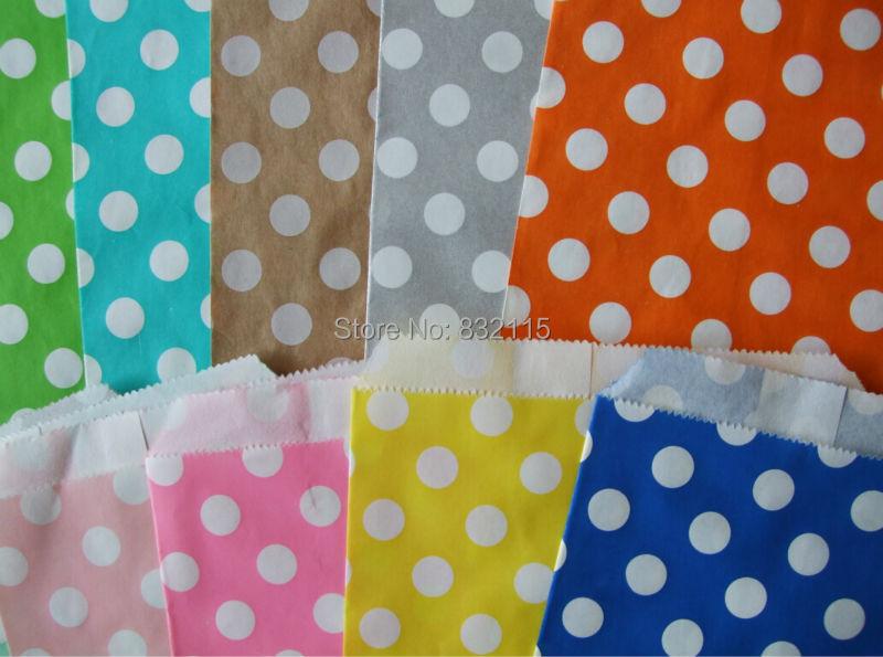 3000pcs Polka Dot Favor Paper Bags, stripe Candy Bags, Popcorn Bags, Wedding Favor Bags. free shipping(China (Mainland))