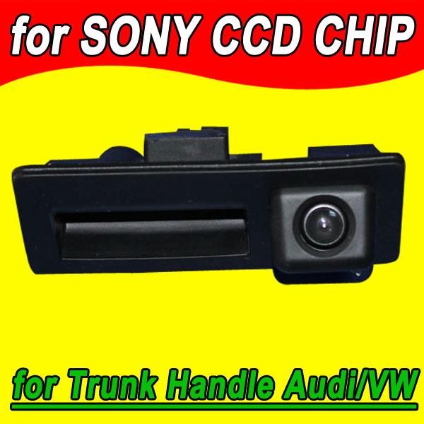 wire wireless CCD car rear camera for Audi A4/Audi A4L/S5/Q5/A8L/09/10 Passat / Tiguan / RS6/12 Sagitar Trunk handle camera(China (Mainland))