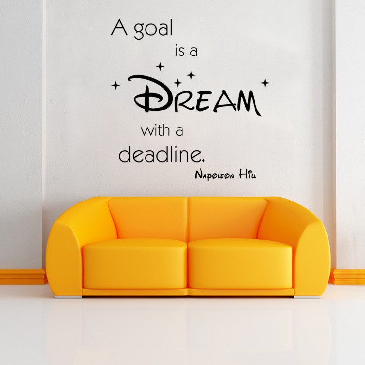 aw9358 new foreign trade English proverbs wall stickers a goal is a dream living room bedroom stickers(China (Mainland))