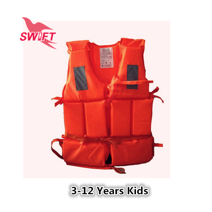High Quality Orange Kids Foam Life Vest With Lifesaving Whistle Cheap Life Jacket For Fishing Swimming Drifting(China (Mainland))