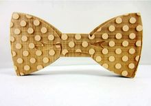 2015 Hot Sale European Fashion Personality Accessory Geometric Design Solid Good Wood Hip Hop Bow Tie For Men Butterfly Neck Tie(China (Mainland))