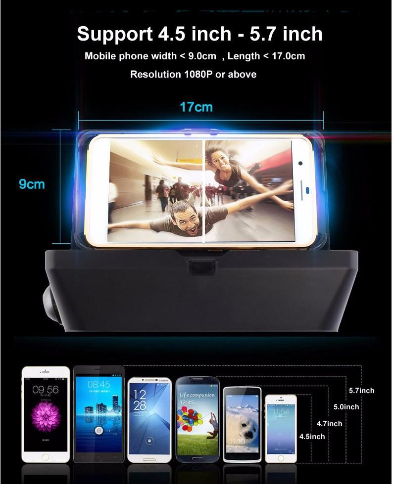 ถูก G oogleกระดาษแข็งแว่นตา5สีVRความจริงเสมือนหัวหน้าเมาภาพยนตร์เกม3Dสากลใช้สำหรับ4.5-5.7นิ้วมาร์ทโฟน