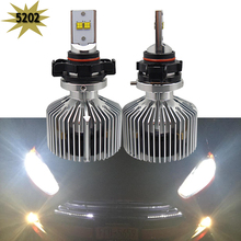 Buy 2x Super Bright 9000lm 5202 H16 EU Xenon White 6000K Car LED Headlight Conversion Kit Lumileds Chips 4500lm Bulb for $79.20 in AliExpress store