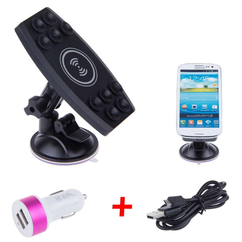 Universal Qi Wireless Car Charging Pad Car Charger Transmitter For iPhone 5 5S Samsung S4 S3 Note3 HTC 8X Verizon Nokia Lumia920(China (Mainland))