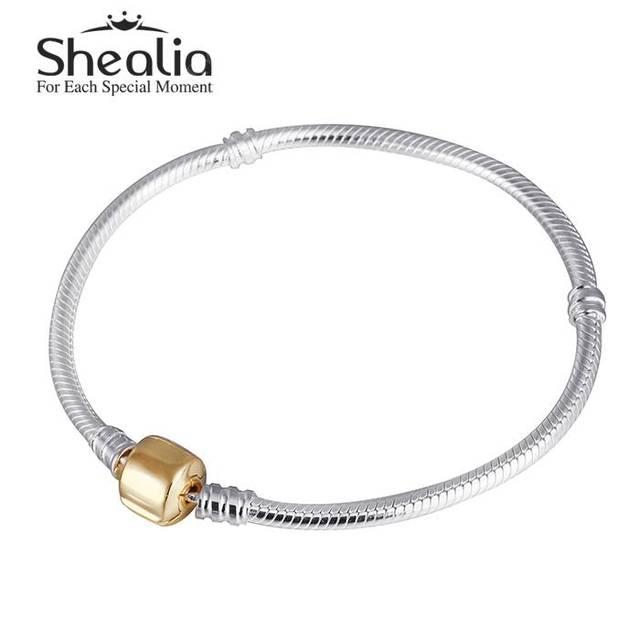 925 серебристый змея очарование Bracelets для женщин с позолоченными Fit европейских подвески бусины ювелирных украшений DIY