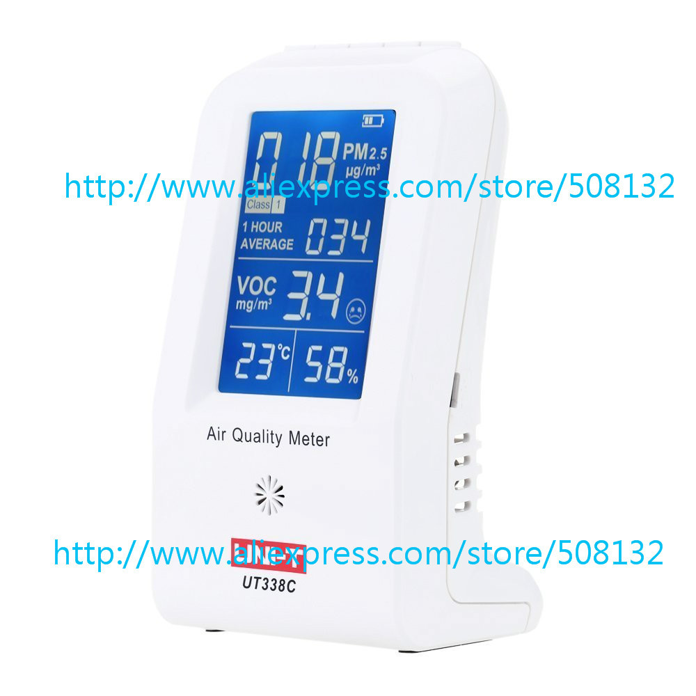 Uni-t UT338C UT-338C PM2.5 Detector / Haze Dust VOC Tester Air Quality Meter Sensor(China (Mainland))